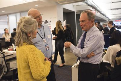 Sharon and Brad Harper with Mike Bloomberg