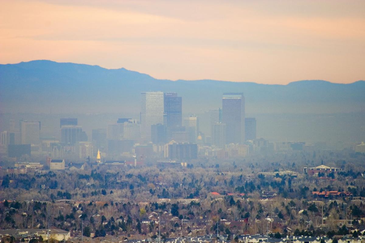 Denver smog haze pollution brown cloud