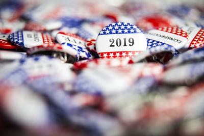 Election Vote Buttons 2019 Year