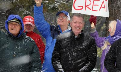 Steve House rally