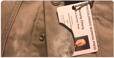 Post photojournalist credentials broken