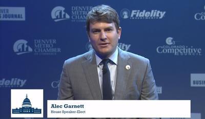 Alec Garnett speaks to Denver Metro Chamber