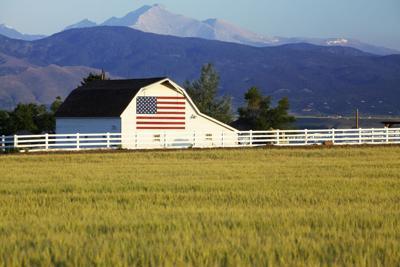 Colorado farm wheat mountains