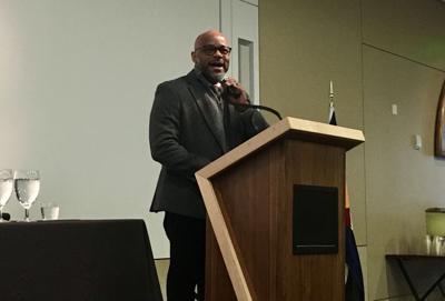 Mayor Michael Hancock addresses Colorado Municipal League members