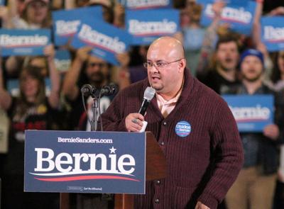 Joe Salazar Bernie Sanders rally 2020