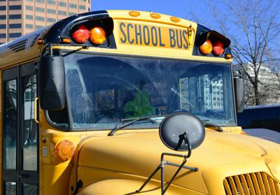 Yellow School Bus closeup education