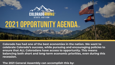 Colorado Rising State Action agenda