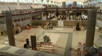 Denver International Airport's Jeppesen Terminal is being remodeled.
