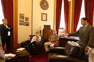 Closed door meeting state Senate June 15, 2020