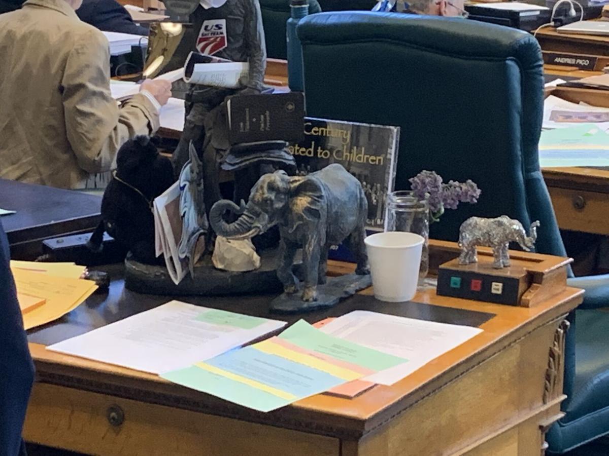 Matt Gray's desk