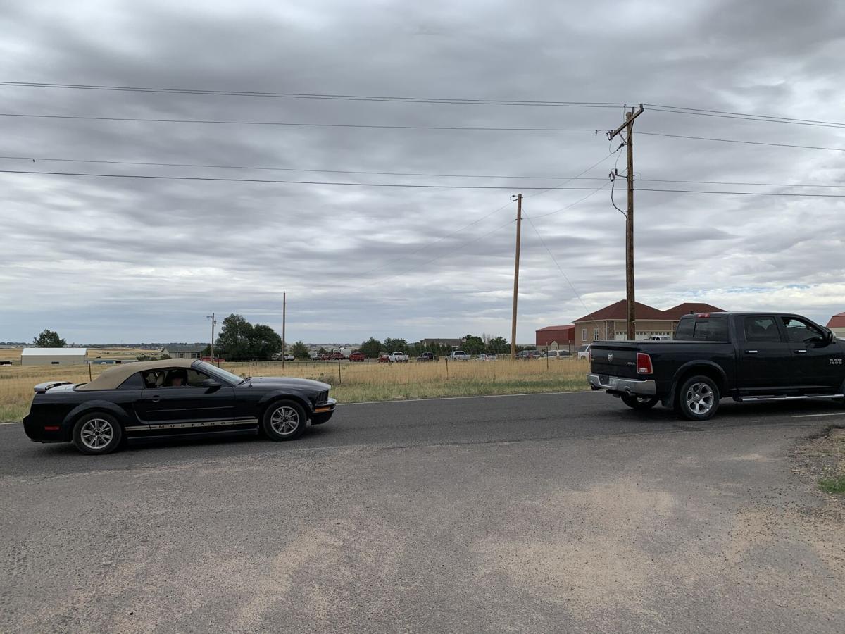 cars entering Barkleys' rodeo