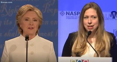 Hillary Clinton (left) and Chelsea Clinton