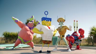 'Spongebob' steps out of water for his latest movie