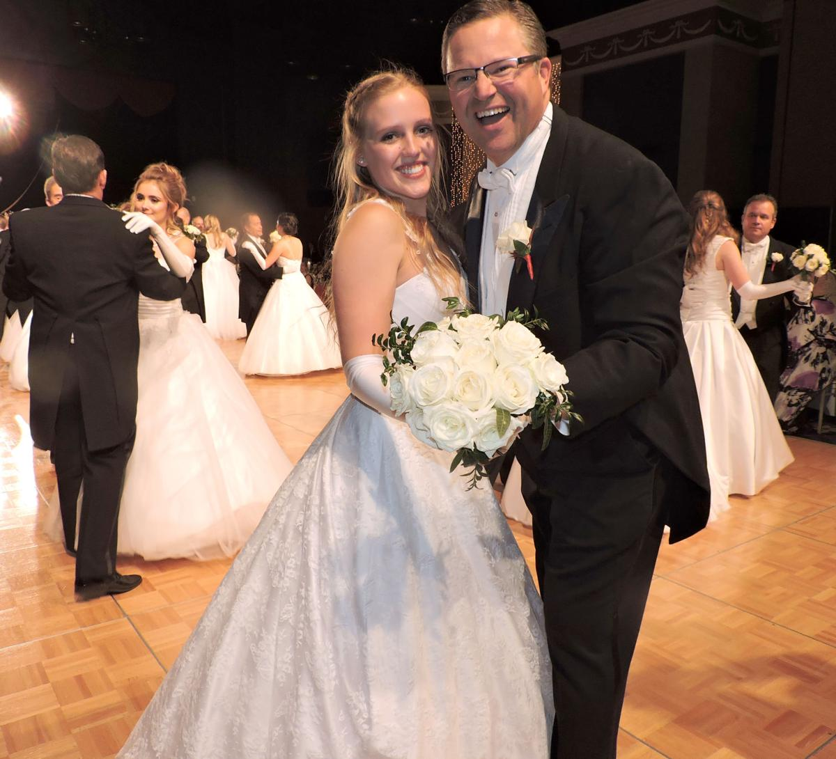 2017 Debutante Ball: Peter Husak and daughter Annabel were two of the fathers and daughters sharing the first dance. 122217 Photo by Linda Navarro