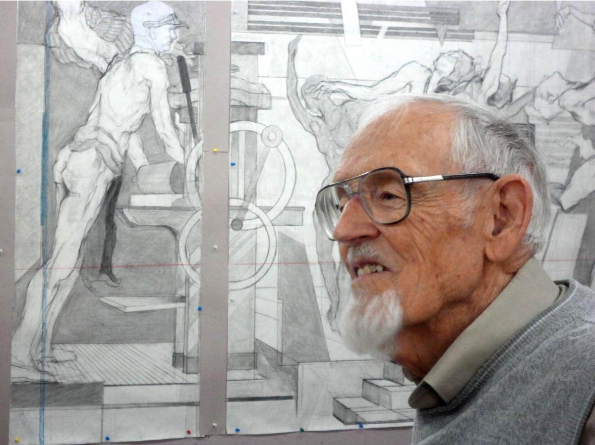 98-year old Eric Bransby will leave trail of murals across the country