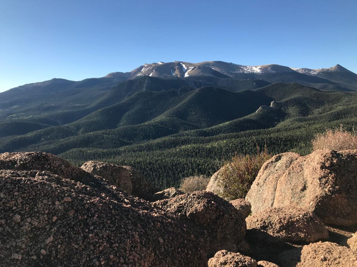 View of Pikes Peak from Raspberry Mountain