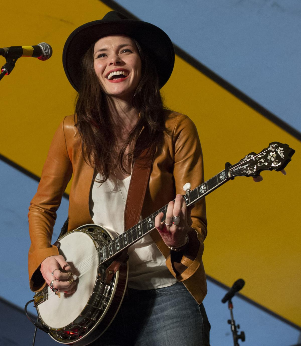 Suzanne Santo of HONEYHONEY performs Saturday, May 23, 2015, during the second day of the MeadowGrass Music Festival at La Ferot Conference and Retreat Center in Black Forest. (The Gazette, Christian Murdock)