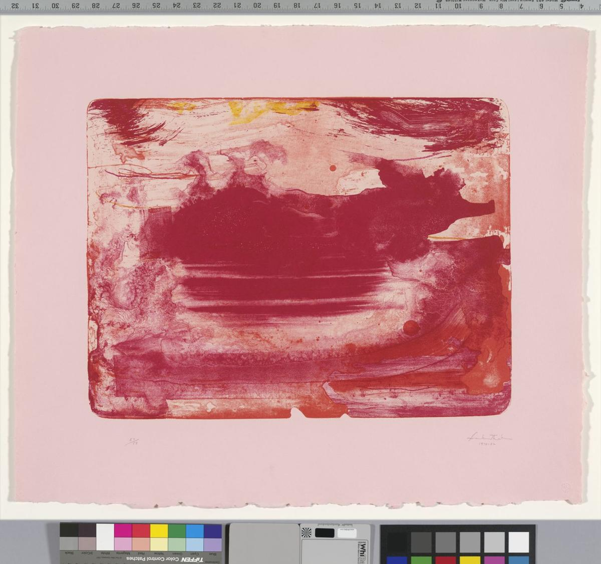 The Red Sea by Helen Frankenthaler from the collection of Jordan D. Schnitzer.tif