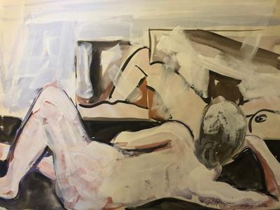 Bill Burgess painting