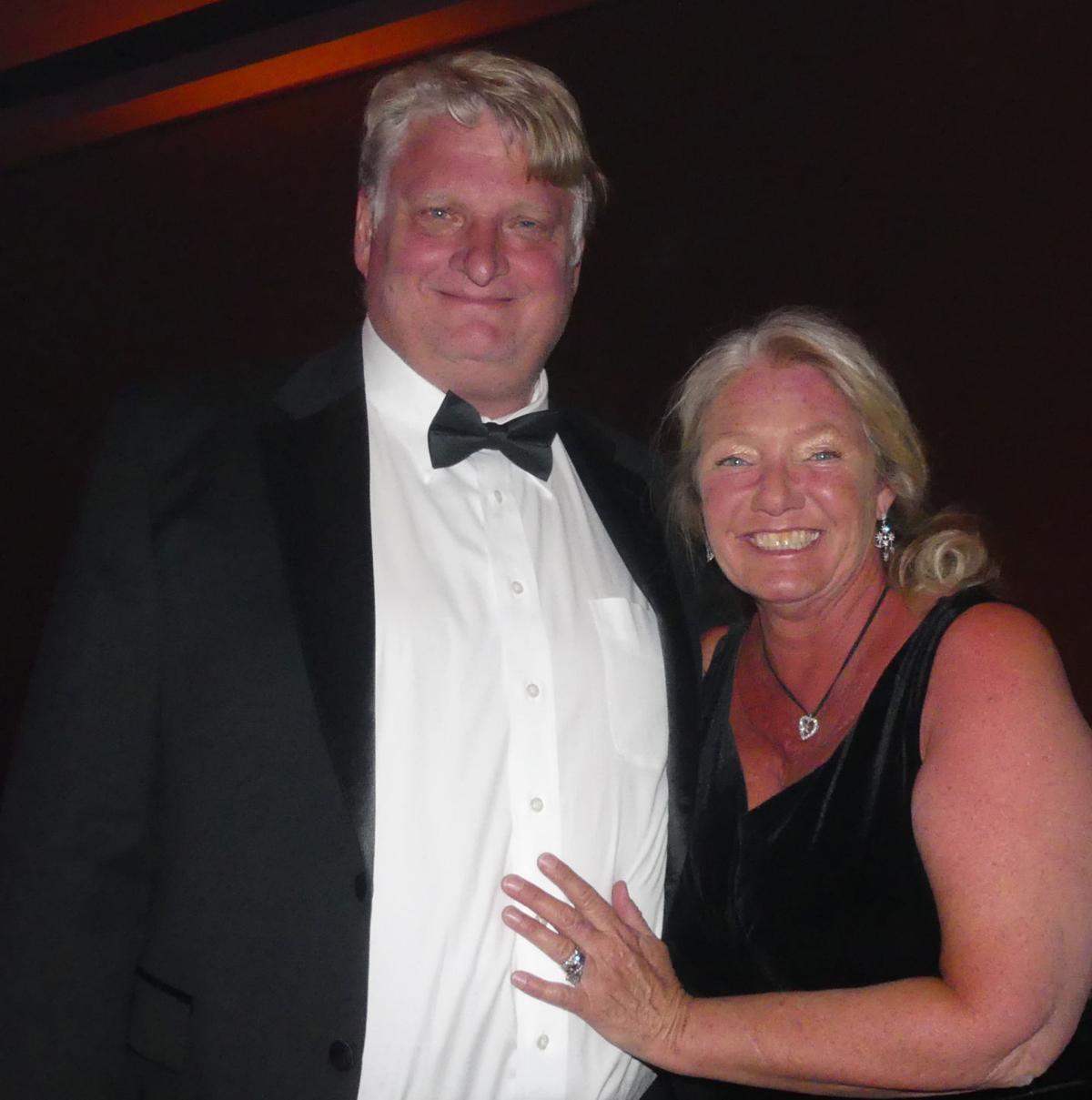 Broadmoor 100th Anniversary Gala: Gazette Editor Vince Bzdek and wife, Kelsey. 060218 Photo by Linda Navarro