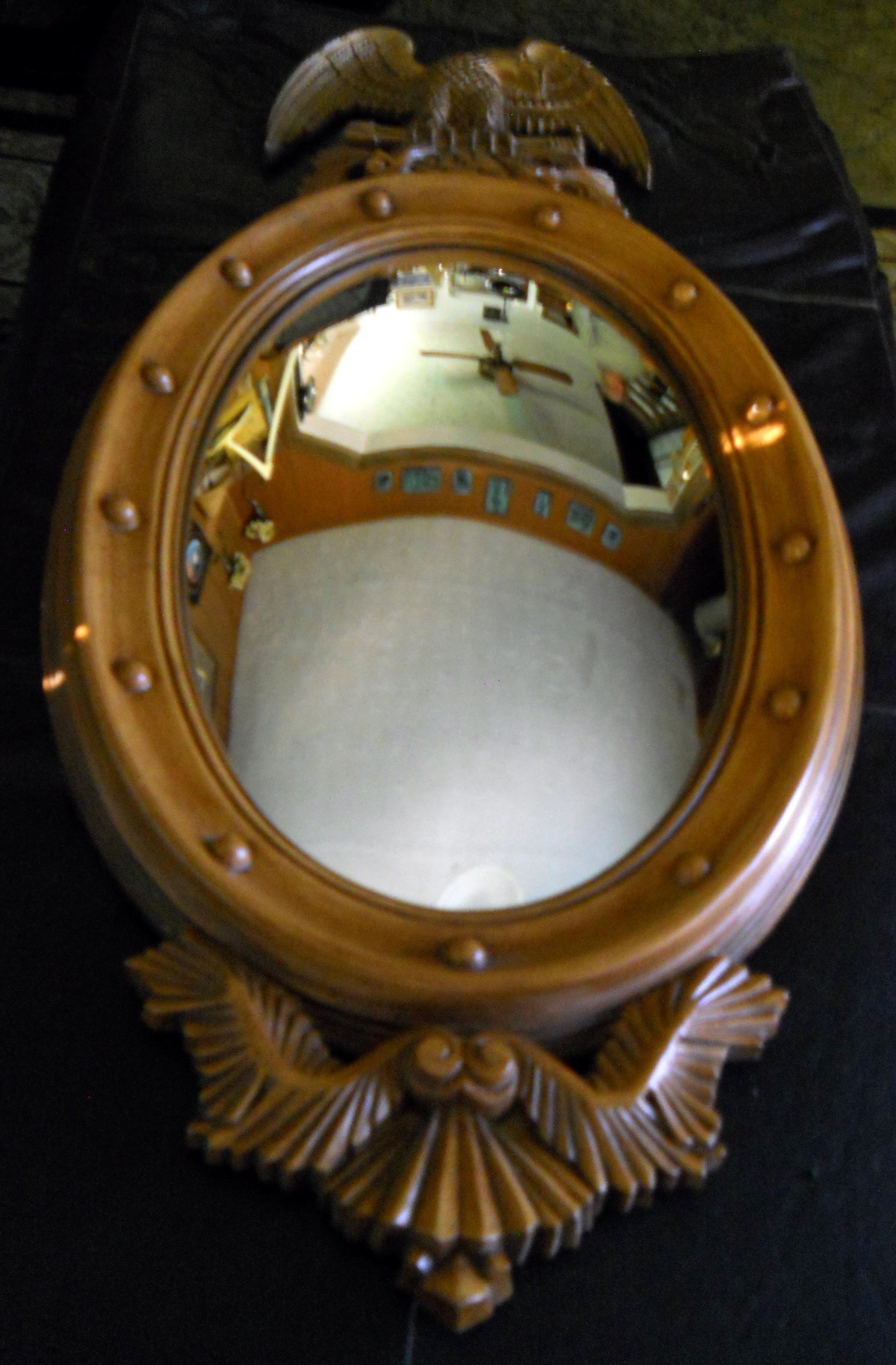 American Eagle Oval Convex Mirror image 1