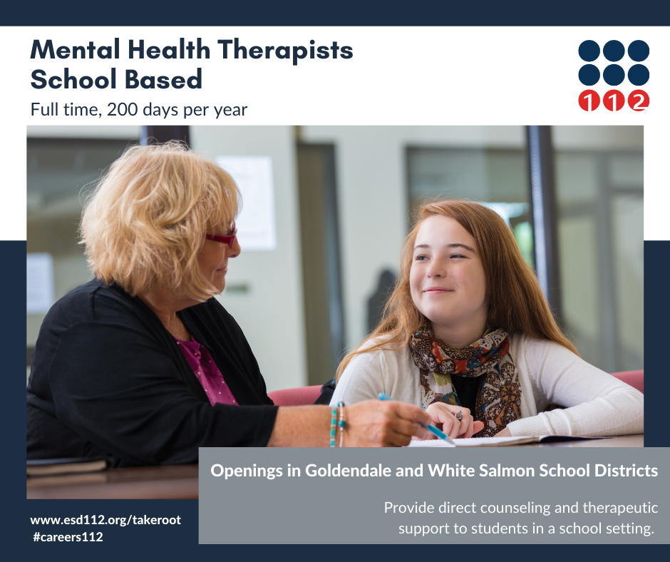 Mental Health Therapists-School Based in White Salmon and Goldendale image 1
