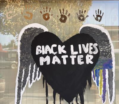 The Black Lives Matter mural Goldendale WAGAP