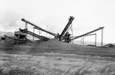 History Dam The Dalles Sand and Gravel Plant Nov1-1953.jpg