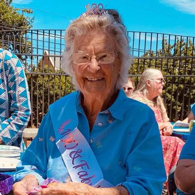 Naomi Frisbie marks 100th birthday