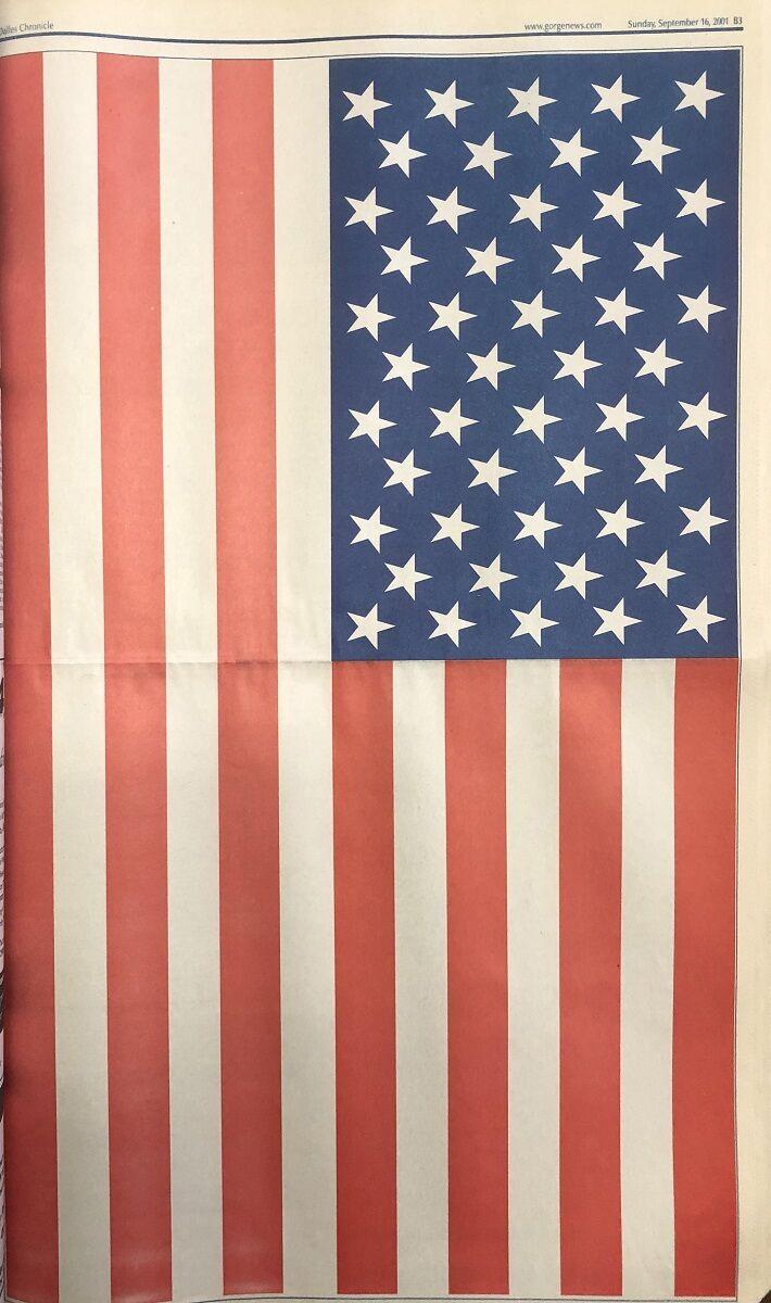 Sept 11 2001 paper flag