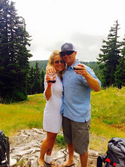 Holt and Veitch marry on the Timberline trail