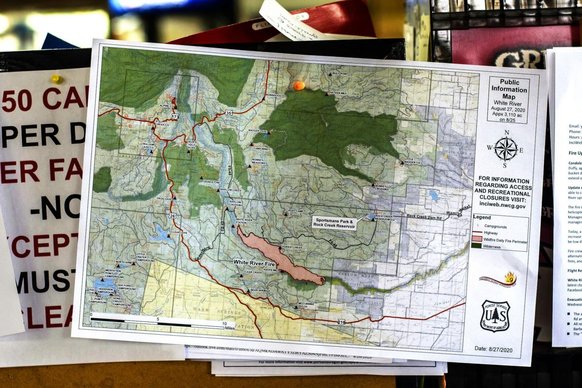 White River Fire Tygh Valley map