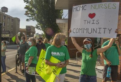 Nurses union rally