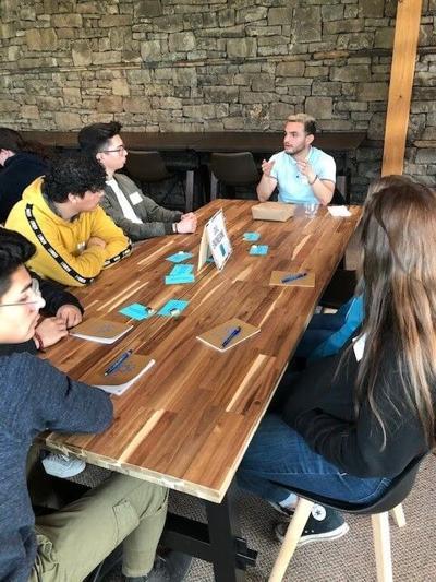 Gorge students meet with local civil designer, Emmanuel Flores