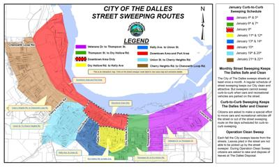 The Dalles Clean Sweep route