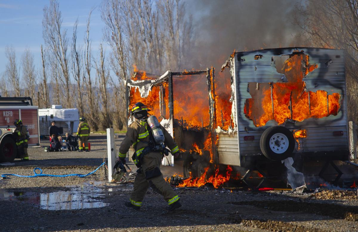 Dallesport Motorhome Fire