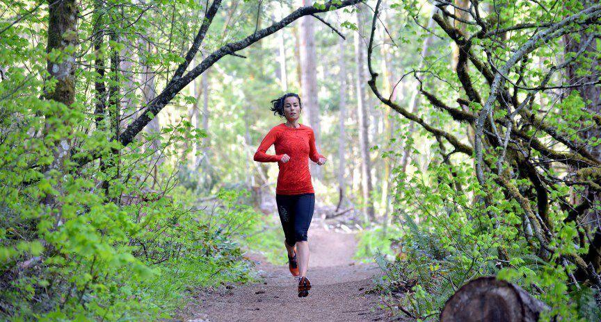 Ruth jogging