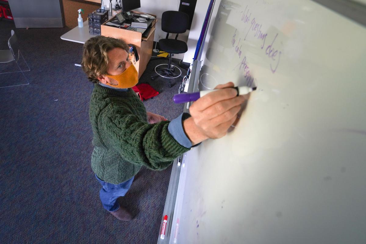 Teaching journalism white board