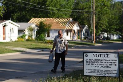 Lester Jones walks home on Hunt Avenue