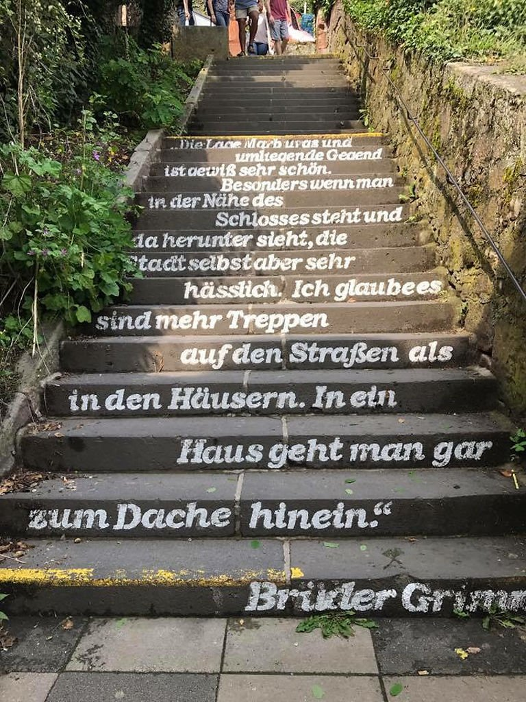 A staircase in Marburg, Germany on a study abroad trip of Elizabeth Hurst