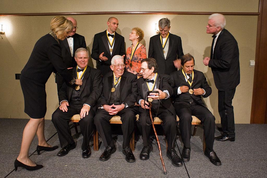 Rod Gelatt, first row second from left, sits among fellow Missouri Honor Medalists