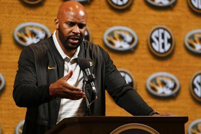Missouri men's basketball coach Cuonzo Martin speaks at SEC Media Day (copy)