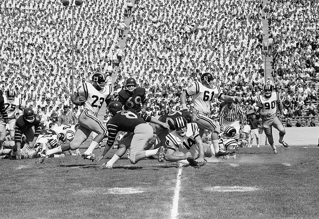 John Roland makes a run against Berkeley in 1962
