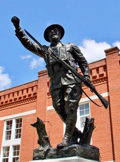 Fight over future of WWI memorial statue goes to court