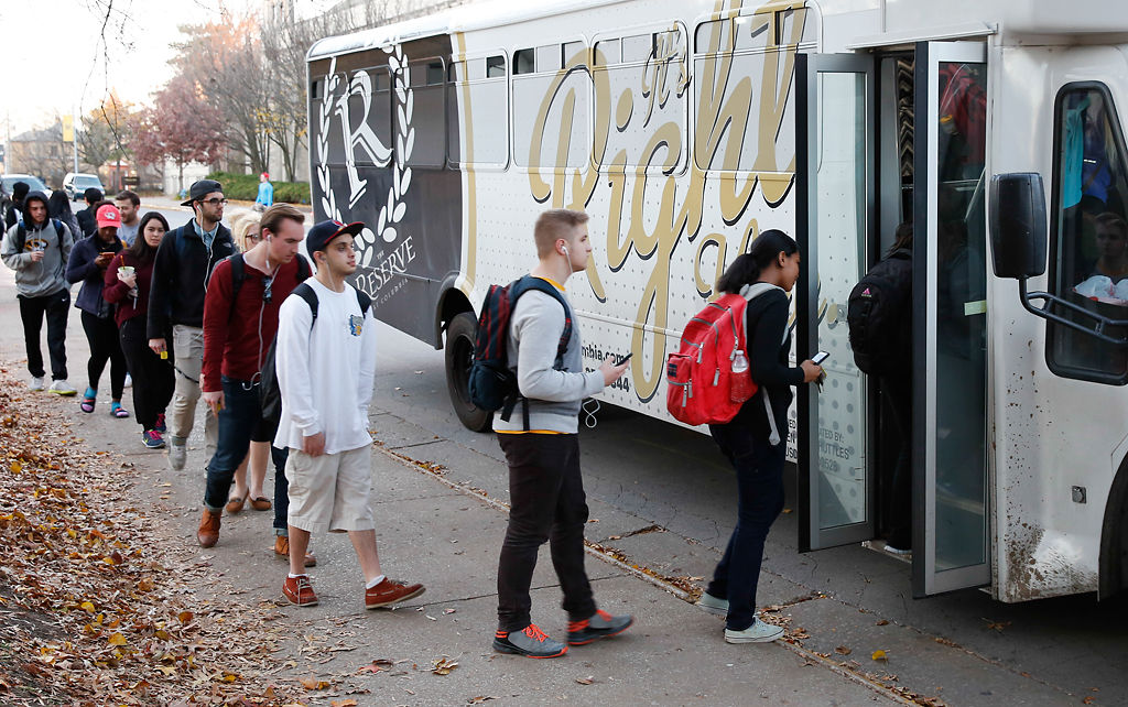 Crossing the line: Student shuttle buses often stretched
