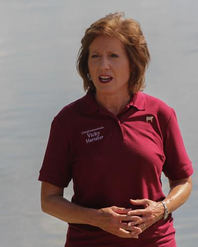 Congresswoman Vicky Hartzler holds a conference with the media to discuss new developments and opinions on various topics, such as mailing absentee ballots, allocating COVID relief, and flood prevention