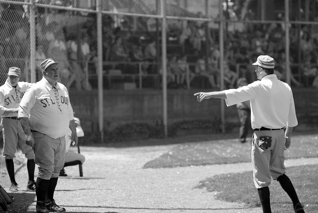 John 'Crackin' Burkman talks with the teams captain