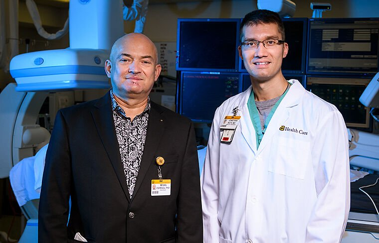 """Jonathan Bath, MD, and Mihail Popescu, PhD, have received a Coulter Award for """"Smart Surveillance System for Monitoring Vascular Bypasses/Stents at Home."""""""