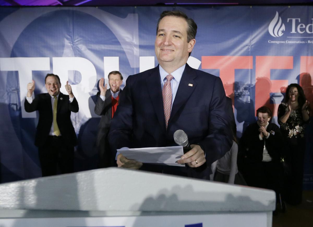 Ted Cruz speaks at the Iowa Caucus