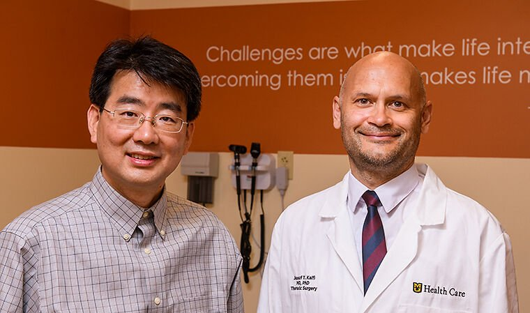 Jussuf Kaifi, MD, and Jae Kwon, PhD, have received a Coulter Award to continue a project to detect cancer with a simple blood draw.